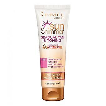 Rimmel Sun Shimmer Postupné opálení a tónování Hydratační krém