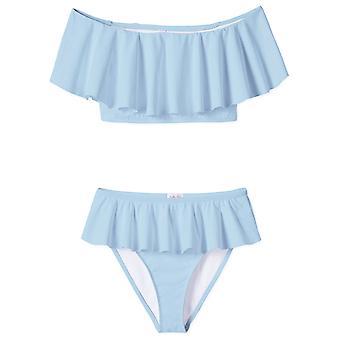 Blau draped Bikini