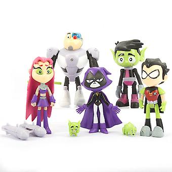7pcs Teen Titans Rysunek Toy Collection Model Kids Prezent