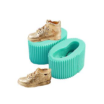 Shoes Fondant Cake Silicone Baking Mold Diy Chocolate Biscuits Handmade Soap Plaster Mold Aromatherapy Mode