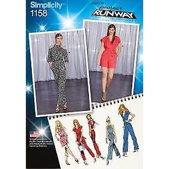 بساطة نمط الخياطة 1158 يفتقد السيدات jumpsuit حجم 14-22 uncut