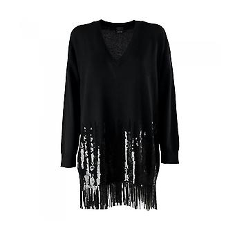 Pinko Tennis Black Sequins Dress