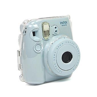غطاء واقية من قذيفة واقية شفافة مناسبة لفوجي فيلم instax mini8 / 9 كاميرا مع حزام الكتف اللون