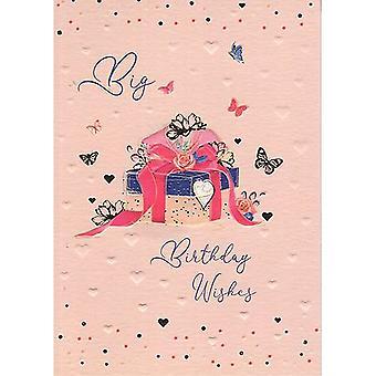 ICG Ltd Pretty In Peach Birthday Card-gift