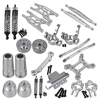 23 parti di aggiornamento in lega di alluminio argento RC1:10 per AXIAL YETI Rock Crawle