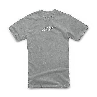 Alpinestars Men's Heather T-Shirt ~ Race Mod grey white