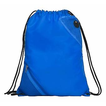 Unisex Sports Drawstring Bag With Zip Pocket