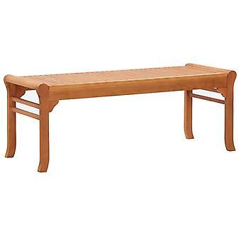 vidaXL 2-seater garden bench 120 cm eucalyptus solid wood