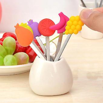 8pcs/set cartoon fruit fork set tenedores vegetales