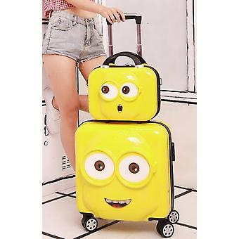 Minion Travel Suitcase Spinner Cabin Rolling Luggage Set