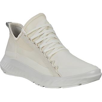 ECCO Womens ST.1 Lite Casual Athleisure Lace Up Trainers Sneakers Shoes - White