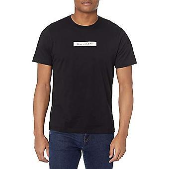 True Religion Box Script Short Sleeve Crew Neck Tee T-Shirt, Onyx, L Man