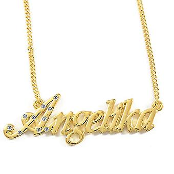 """L Angelika - 18-carat Gold Plated Necklace, Adjustable Chain of 16""""- 19"""", in Regal Packaging"""