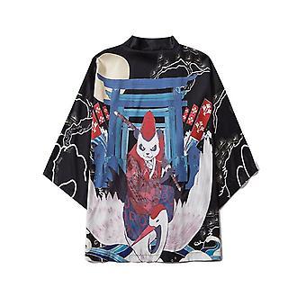 Estate- Samurai Tradizionale Kimono, Anime giapponese, Camicia Cosplay Cardigan
