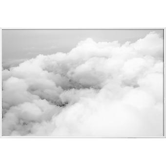 JUNIQE Print - Ovanför molnen - Himmel & Moln Affisch i Grått & Vitt