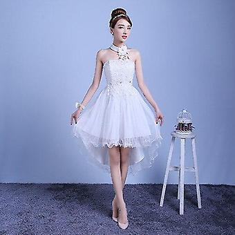 Vestidos de dama de honra longos e curtos de verão, vestido de noiva