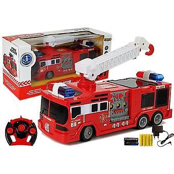 Bestuurbare brandweerauto 28 cm – RC speelgoed