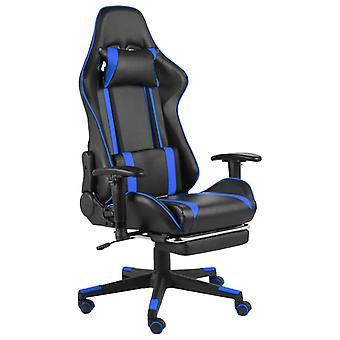 vidaXL Gaming-Stuhl mit Fußstütze Drehbar Blau PVC