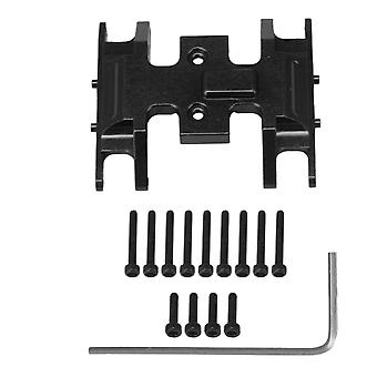 RC1:24 Metal Gearbox Skid Plate Gearbox Base Replacement for AXIAL Black