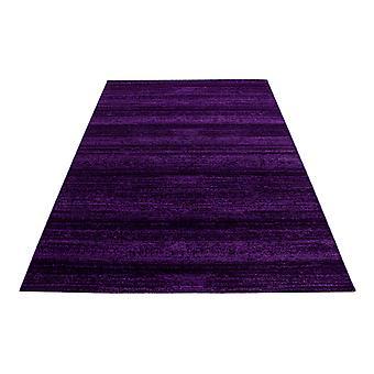 Corto diseño floral alfombra de color sólido rayas patrón púrpura moteado alfombra de la sala de estar