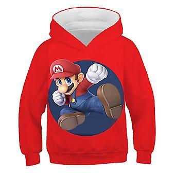 3d Print, Super Mario Cartoon Hooded Sweatshirt For Set-2