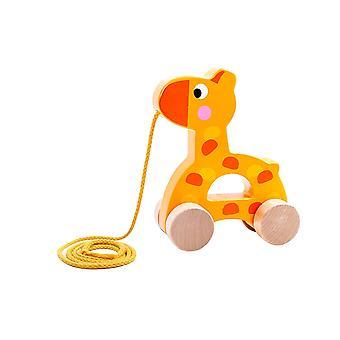 Giraffe Wooden Pull Along Toy