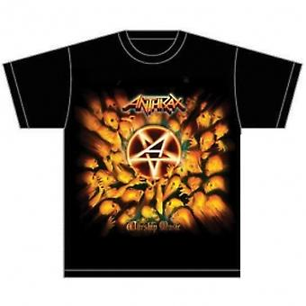 Anthrax Worship Music Mens Black T-Shirt: Medium