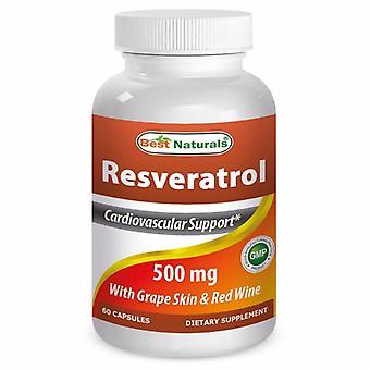 Best Naturals Resveratrol, 500 mg, 60 Caps