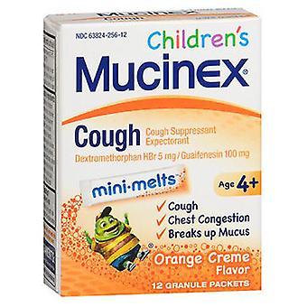Mucinex Mucinex Childrens Cough Mini-Melts Packets, Orange Creme 12 each