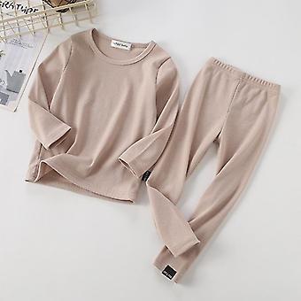 Kinderrippen-Pyjama, Oberteil und Hose für, Kleidung Set-1