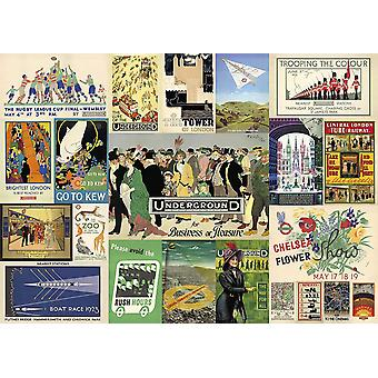 Gibsons Transport for London Heritage Posters Jigsaw Puzzle (1000 Pieces)