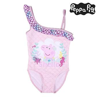 Uimapuku tytöille Peppa Pig Pink