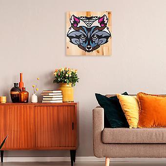 Fox Multicolor Dekorativa Trä Vägg Tillbehör