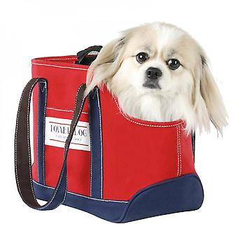 Pet Carrier Portable Canvas Travel Tote Bag With Leash Hook,cat Small Dog