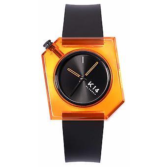 Klasse14 K14 Think Orange 40mm Black Silicone Strap WKF19OE001M Watch