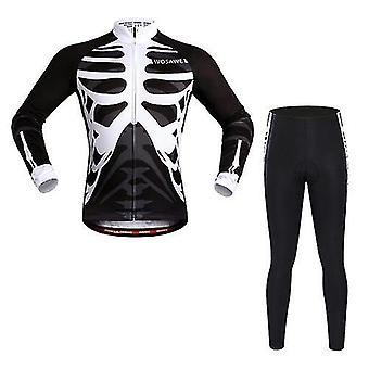 自転車の自転車のジャージwosawe長袖サイクリングジャージは、通気性4dパッド入りパンツスポーツウェアマウンテンアパレルサイクリング服を設定します