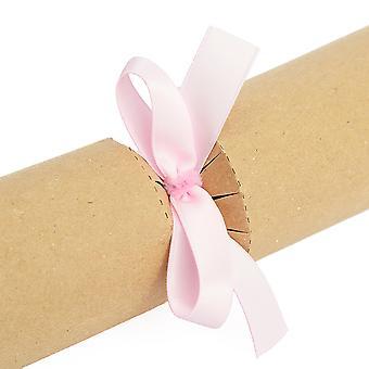 16 galletas hechas listas y arcos de regalo - Satén rosa bebé