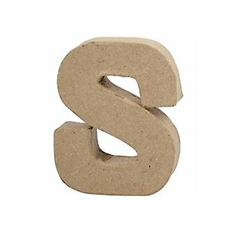 VIIMEISET MUUTAMAT - Pieni 100mm paperi mache kirje S | Papier Mache -muodot