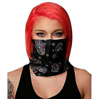(Stampa a mano) Bandana Tube Neck Warmer Snood Ski Cycling Face Cover Mask Sciarpa