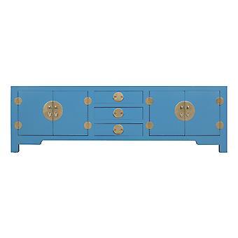 Fine asiatiqueliving Chinois TV Stand Banc Bleu Ciel - Collection Orientique W175xD47xH54cm