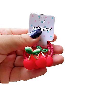 15SET 2PCS / Set Nuovo carino ciliegio ravanello cartone animato principessa copricapo bambini Elastic Hair Bands Bambini