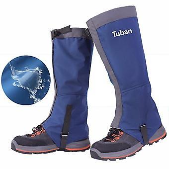 1Pair leg gaiter waterproof snow boot gaitors 420d anti-tear nylon fabric leggings cover outdoor fishing skiing hiking