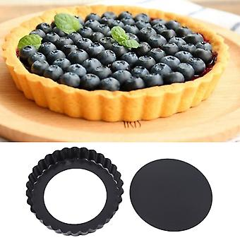 Round mini pie muffin cupcake pans non-stick quiche flan pan molds pie pizza cake mold removable loose bottom bakeware tool