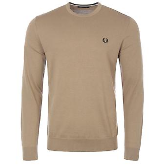 Fred Perry Classic Crew Neck Sweater - Warm Stone