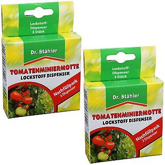 Sparset: 2 x DR. STÄHLER tomat gruvarbetare moth attractant, 3 dispensrar