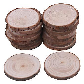 صناع الديكور الحرفية 20piece الطبيعية شرائح الخشب غير المكتمل حرفة الزفاف اليدوية diy 4-5cm