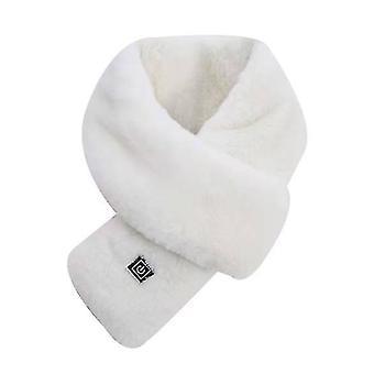 Neck gaiters usb heating scarf unisex heating scarf intelligent control three-speed heating scarf(white) #110