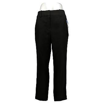 Kirkland Signature Women's Pants Slim Leg Ankle Length Trouser Black