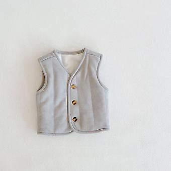 Winter Baby All-match Quilted Thickened Warm Baby Cardigan Quilted Jacket Vest Baby Winter Clothes