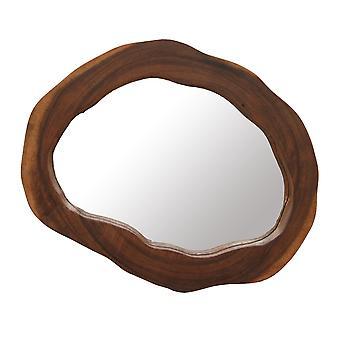 Hand Finished Natural Acacia Wood Framed Wall Mirror